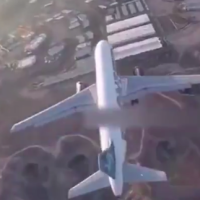 Flying a Drone over a Commercial Airplane
